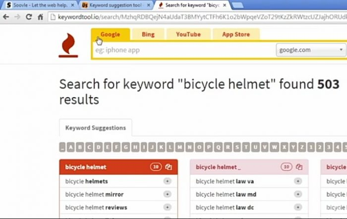 Keyword Ideas From keywordtool.io