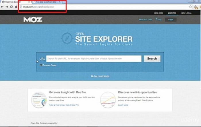 Front page MOZ.COM
