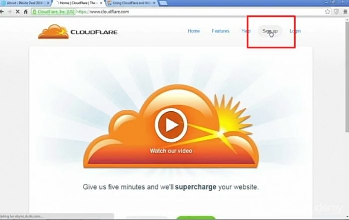 Go To CloudFlare.com Front Page