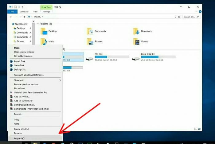 go your file explorer and your system drive or C drive press right mouse button and go to properties as well as below picture.