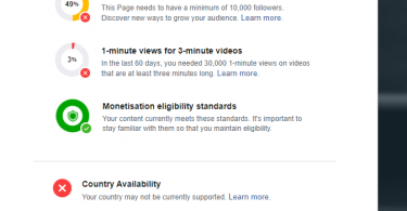 Facebook Videos Monetization Eligibility Check