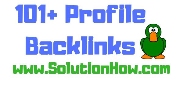 101+ Profile Backlinks
