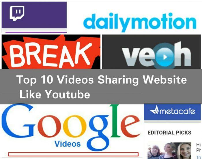 Top 10 videos sharing website like youtube