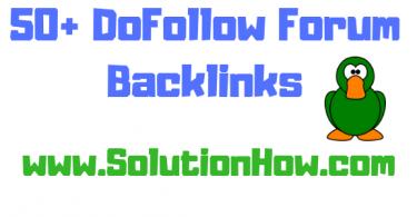 50+ Forum Backlinks list