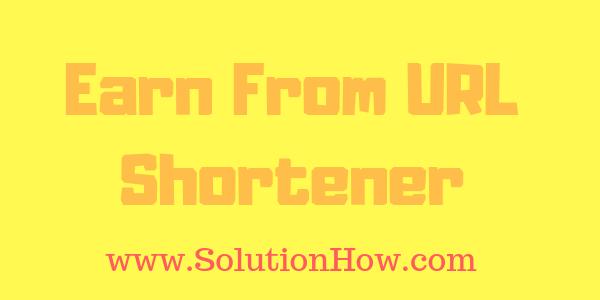 Earn from Facebook using URL shortener