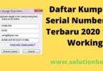 Daftar Kumpulan Serial Number IDM Terbaru 2020 100% Working
