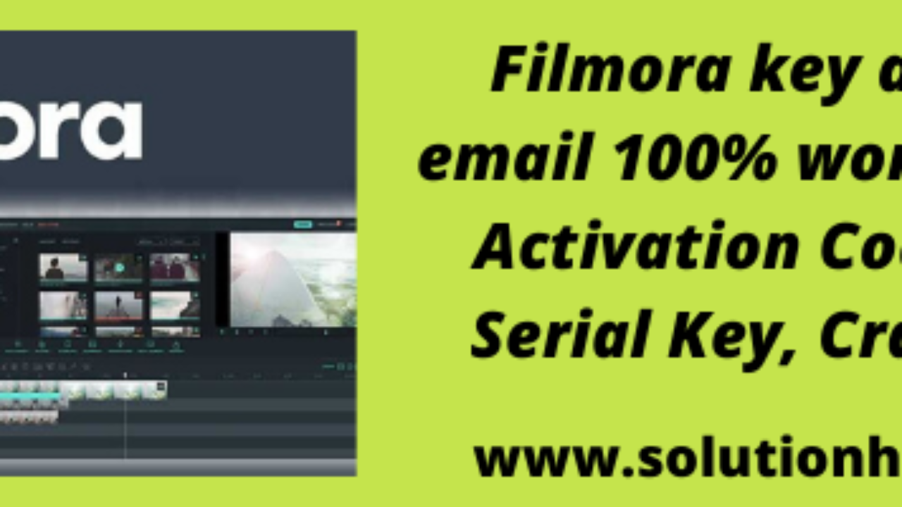 Wondershare Filmora Key And Email 100 Working Solutionhow