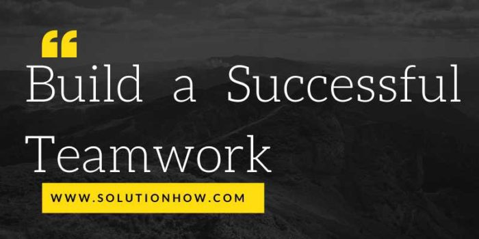 Build a Successful Teamwork