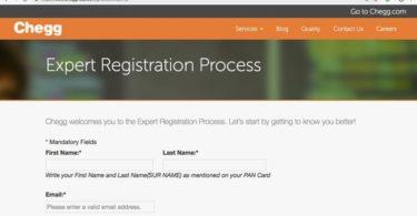 Chegg registration