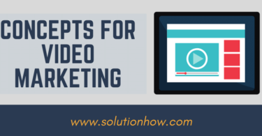 Concepts for Video Marketing