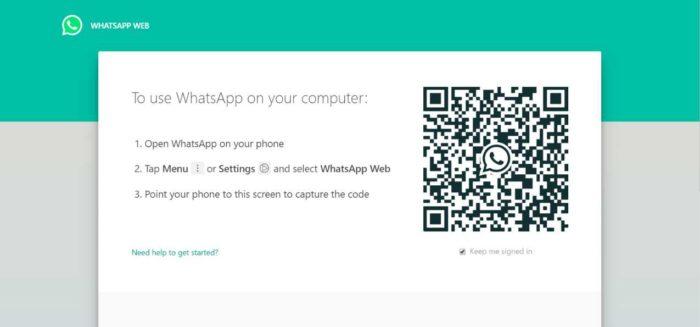 scan QR Code using whatsapp web website