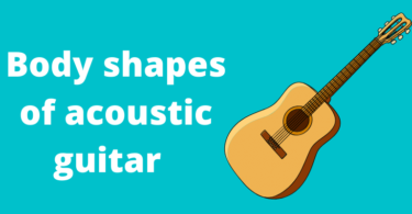 Body shapes of acoustic guitar