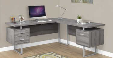 Monarch Specialties L Shaped Gaming Desk