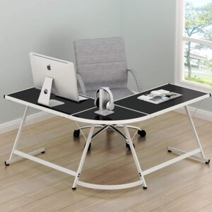 SHW L-Shaped Gaming Desk