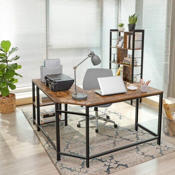 VASAGLE L-Shaped Gaming Desk, Corner Desk