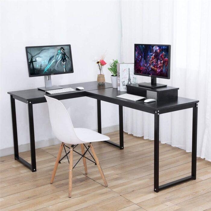 ZCH L-Shaped Large Corner Gaming Desk