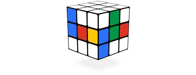Rubik's Cube - jogos conhecidos do google doodle