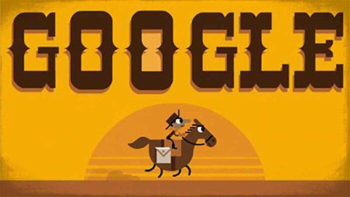 The Pony Express - jogos conhecidos do google doodle