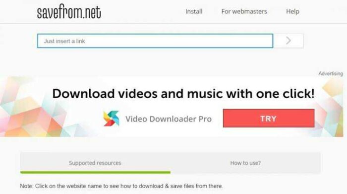 saveform.net Dailymotion video downloader.
