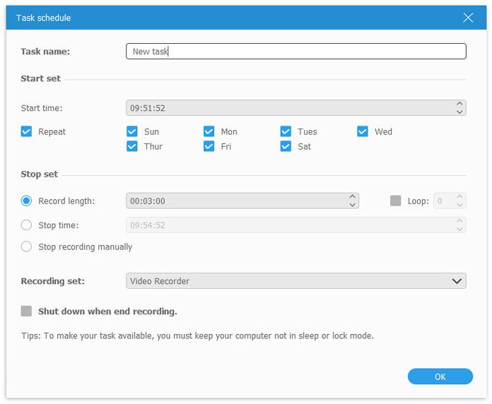 task schedule settings