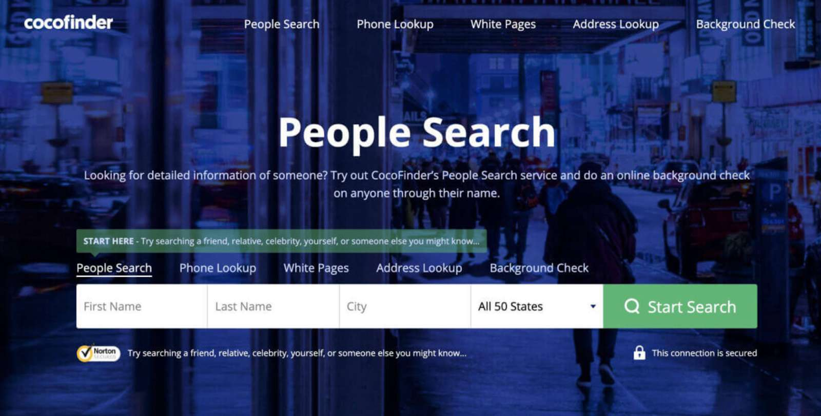 search people on CocoFinder
